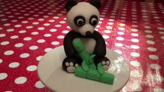 How to make a fondant panda cake topper