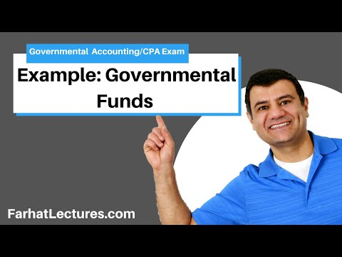 Governmental funds example FAR CPA exam governmental course