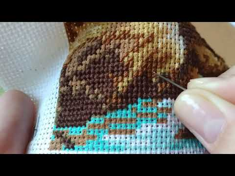 Вышивка крестиком на канве
