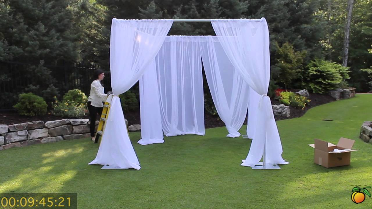 Wedding Canopy - Georgia Expo Pipe and Drape Creating a Wedding Canopy Using Pipe and Drape - YouTube & Wedding Canopy - Georgia Expo Pipe and Drape: Creating a Wedding ...