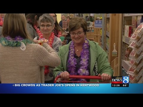 Trader Joe's opens to large crowd in Kentwood