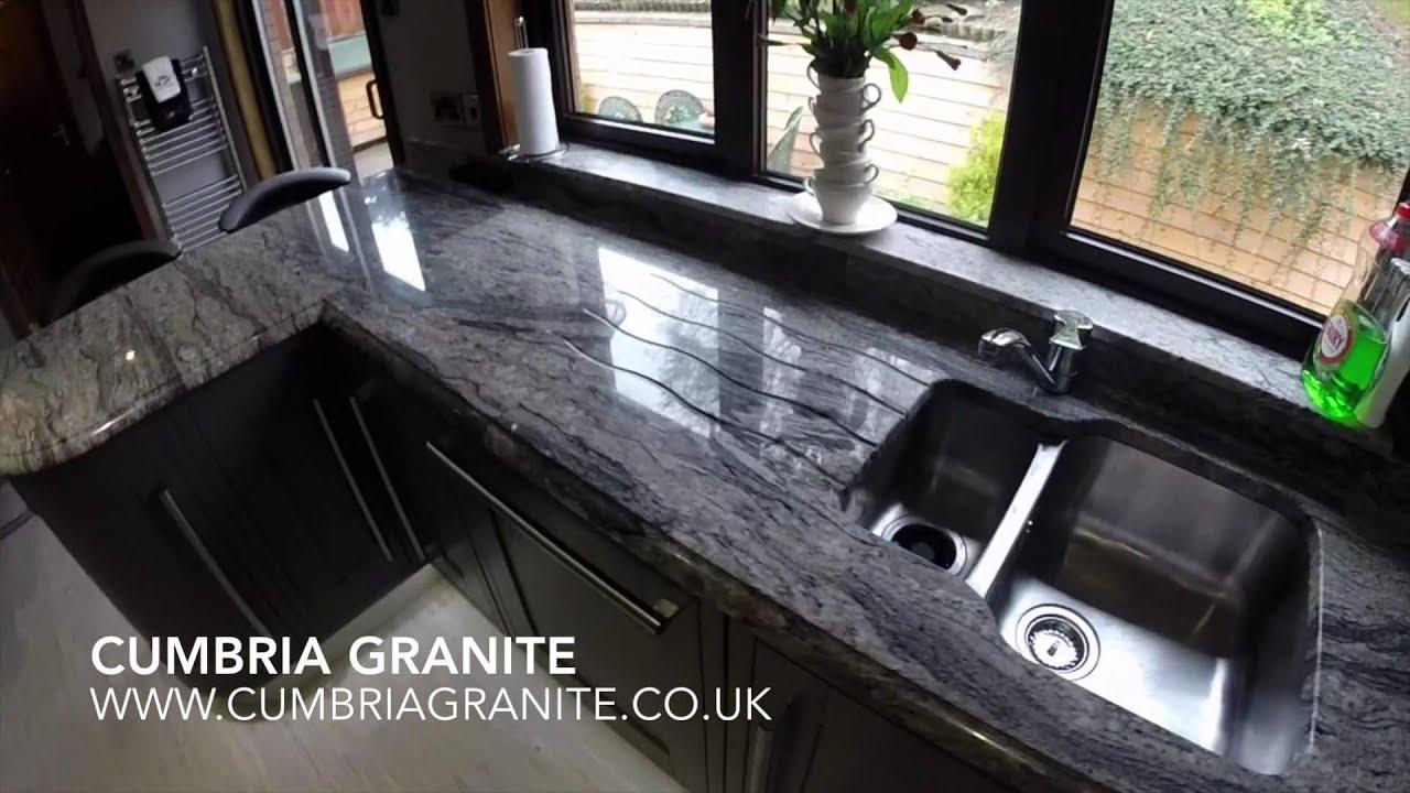 Cumbria Granite - Bianco Piracema Granite - YouTube