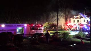 Fire guts mansion at Pitney Farm in Mendham