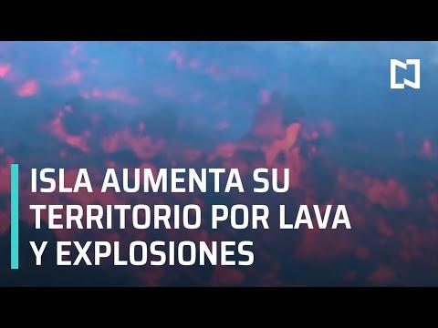Isla de La Palma expande su territorio tras fuerte erupción volcánica - Noticias MX
