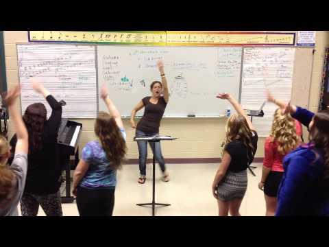 Boone Grove High School Choir Riser Choreography - Women - I Put A Spell On You 2014