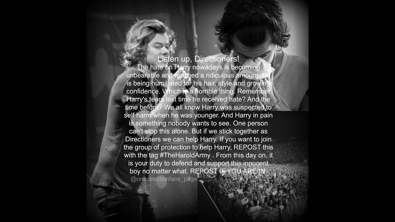 Stop the hate on Harry Styles #TheHaroldArmy - YouTube