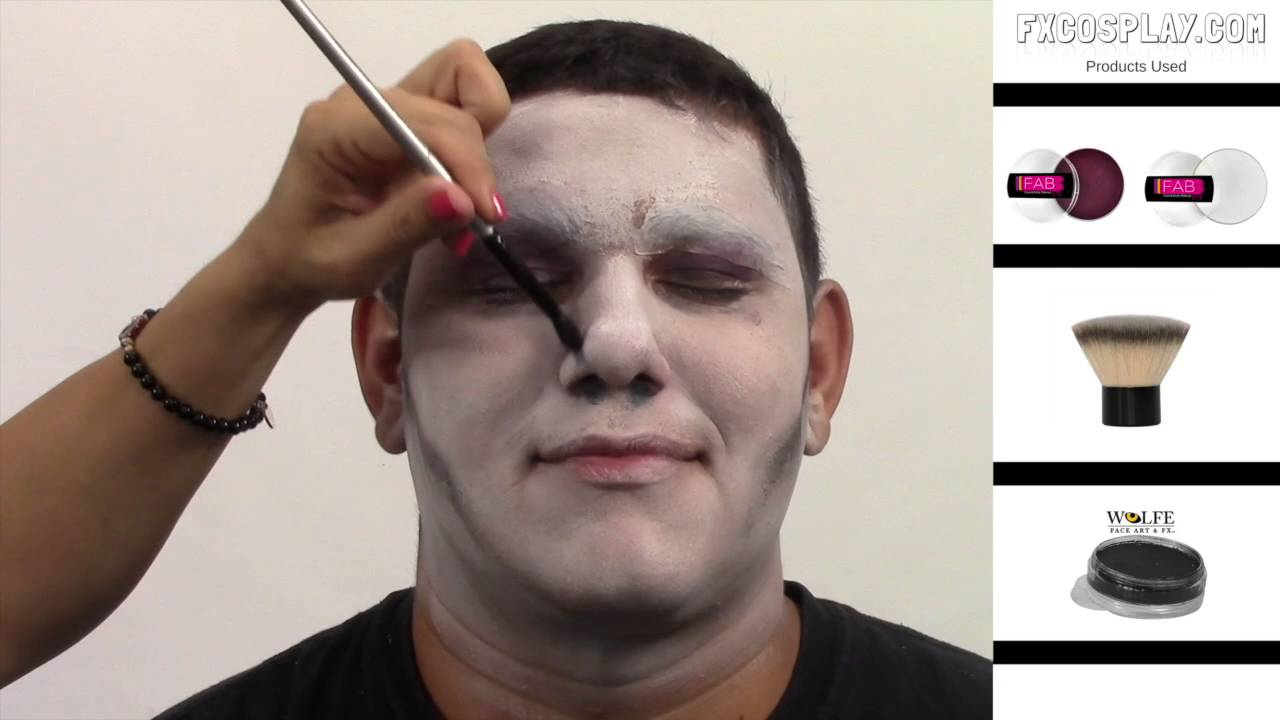 suicide squad joker face tutorial youtube. Black Bedroom Furniture Sets. Home Design Ideas