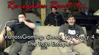 Renegades React to... VanossGaming: Gmod Toy Story 4 - The Toys Escape!