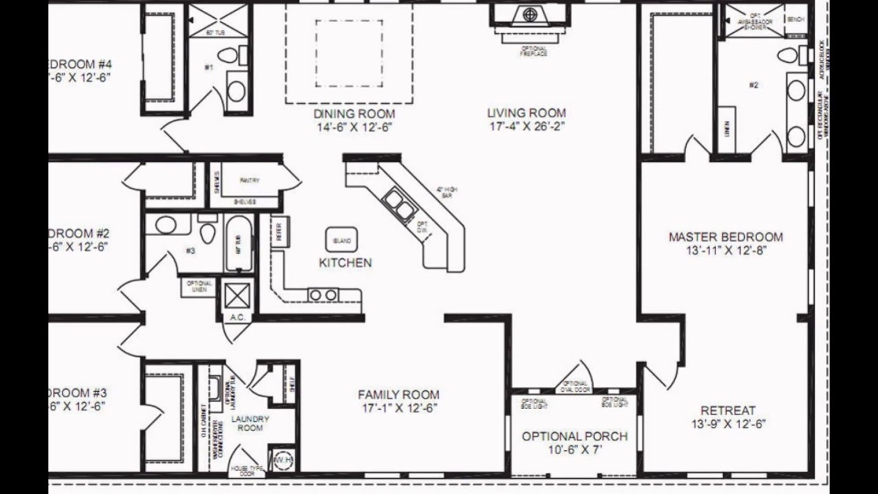 Floor plans house floor plans home floor plans youtube for Sample house floor plan drawings