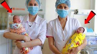 Две малышки от которых отказались в один день в роддоме стали приёмными сестрами...