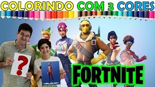 FORTNITE: COLORINDO CHALLENGE WITH THREE NEW COLORS FORTNITE SKINS (fr) 3 Marker Challenge!