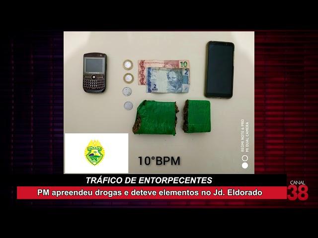 ELEMENTO É PRESO POR TRÁFICO DE DROGAS EM APUCARANA