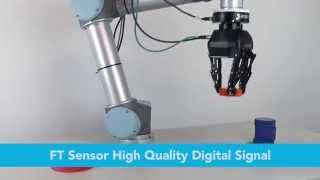 3-Finger Robot Hand with Force Torque Sensor on Universal Robots in a Weight Measurement Application