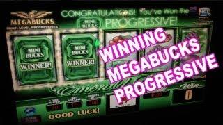 Winning at MEGABUCKS Progressive Slot Machine