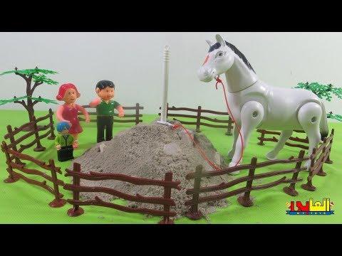 لعبة مفاجأة بابا لأحمدحصان فى المزرعة للأطفالألعاب العرائس والدمى للأولاد والبنات