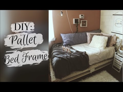 HOW I MADE MY PALLET BED FRAME