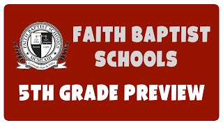 Fifth Grade Bible Lesson Preview