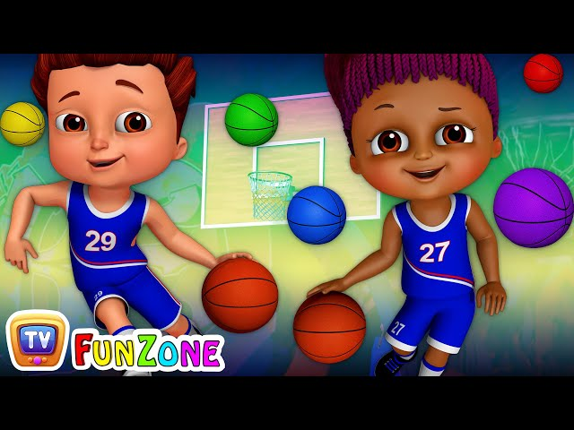 Team Spanny Vs Team FiFI in Basketball Game (SINGLE) | Learn Colors for Kids | ChuChu TV Funzone