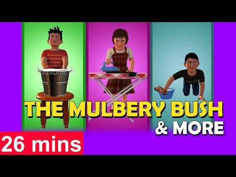 Here We Go Round The Mulberry Bush | Plus Lot more 3D Rhymes Collection for Children | KidsOne