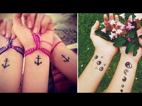 Hermosos tatuajes para mejores amigas/Beautiful tattoos for best friends