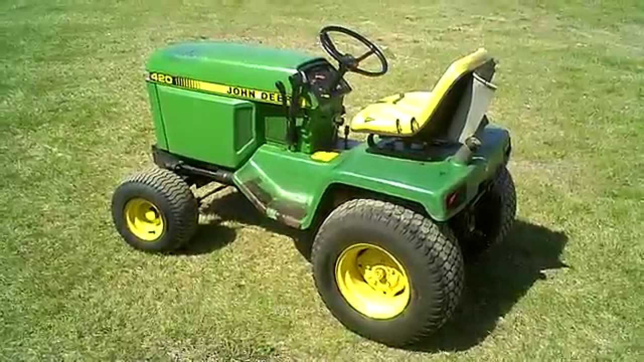 Beautiful LOT 1833A John Deere 420 Lawn U0026 Garden Mower Tractor Parts   YouTube