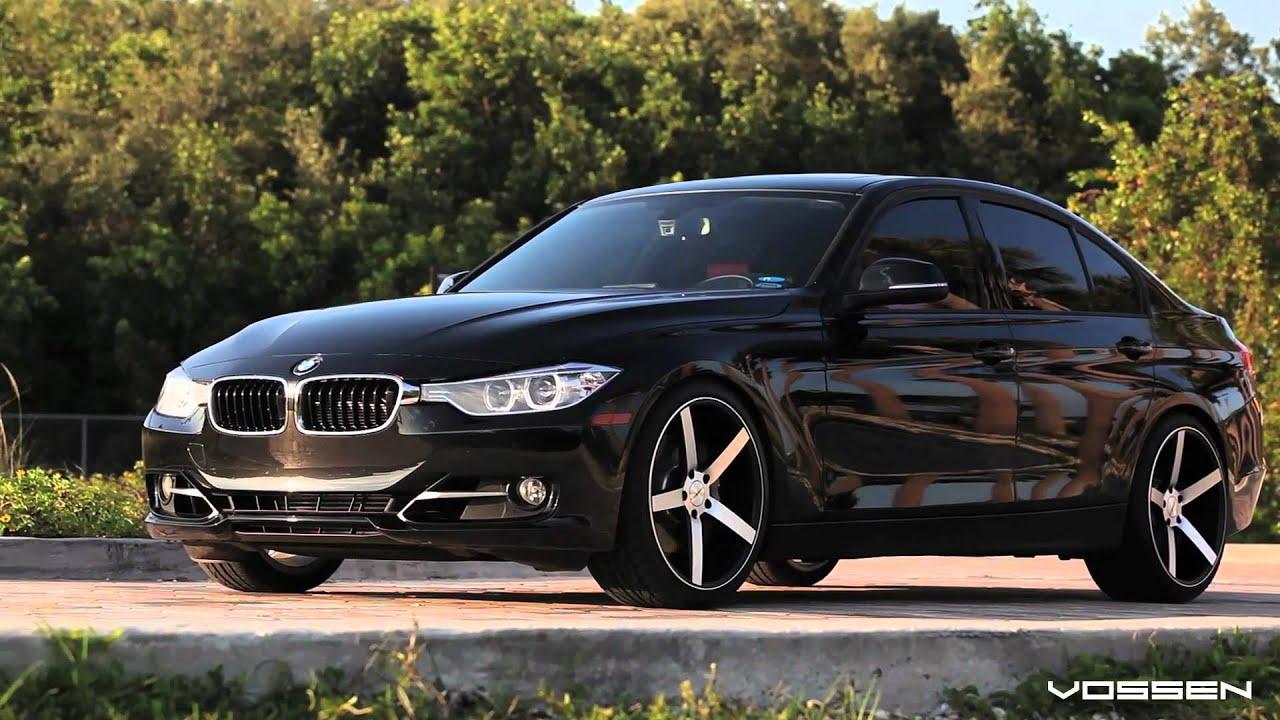"BMW F30 3 Series 335i on 20"" Vossen VVS-CV3 Concave Wheels / Rims - YouTube"
