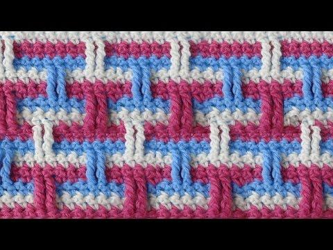 Вязание трехцветное крючком