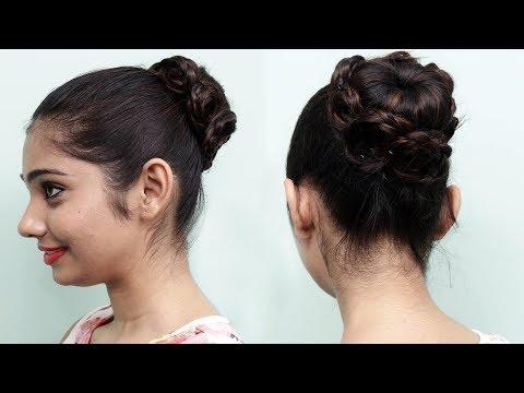 Beautiful hair bun for girls | Bun hairstyles for medium length hair | Hair Style Girl thumbnail