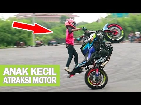 Wahyu Nugroho, Talented Little Kid Doing Extreme Stunts on Motorcycle (Little Stunt Rider) Indonesia