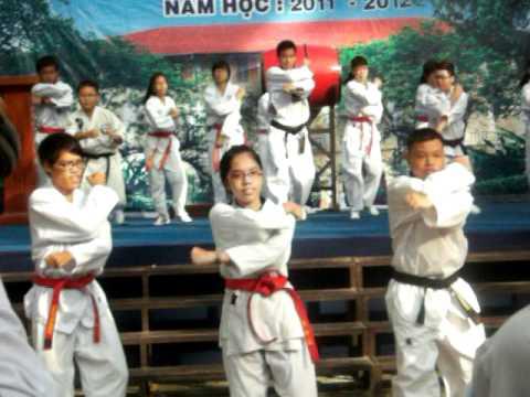 Võ Taekwondo chào mừng năm học mới THPT Chuyên Trần Đại Nghĩa
