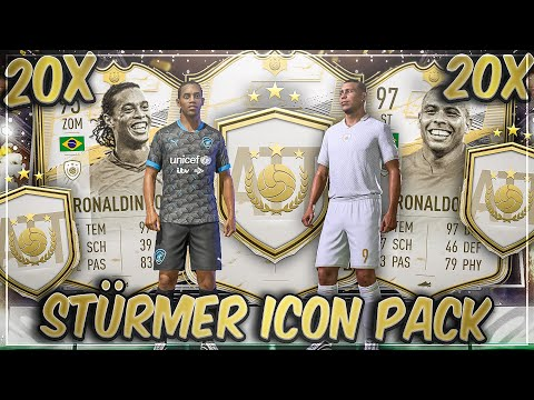 BACK TO BACK BRASILIEN MOMENTS! 20x STÜRMER ICON PACK in FIFA 21
