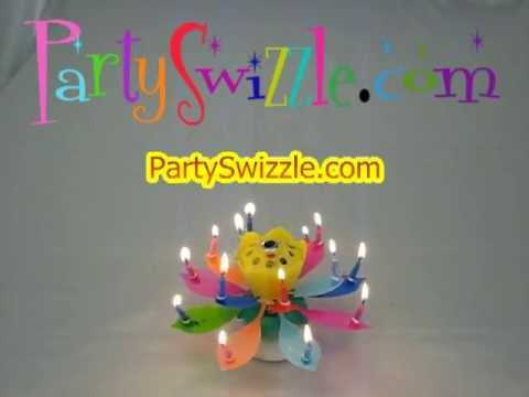 Musical Flower Birthday Candle at PartySwizzle com