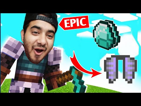 I Found The Most Rare Things In SkyBlock (Diamonds, Elytra)