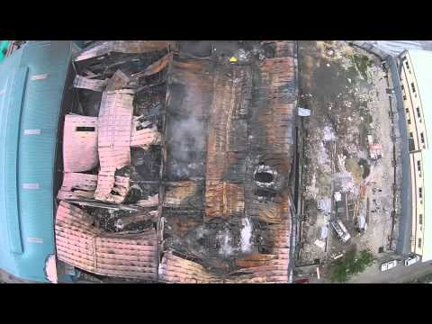 Aerial footage of Valenzuela factory after massive fire