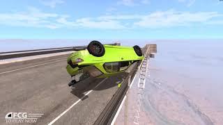 BeamNG.Drive : Gila !!! Aksi Nekad Mobil Balap Loncat Dari Ketinggian Sampai Hancur Berantakan