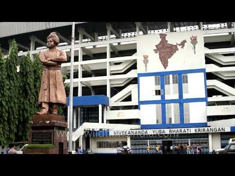 Vivekananda statue in front of Salt lake Stadium