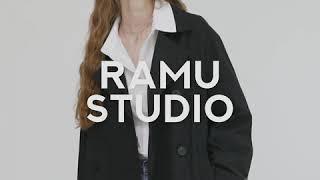 라뮤 F/W 기본은  블랙 트렌치 코트 RAMU BLA…