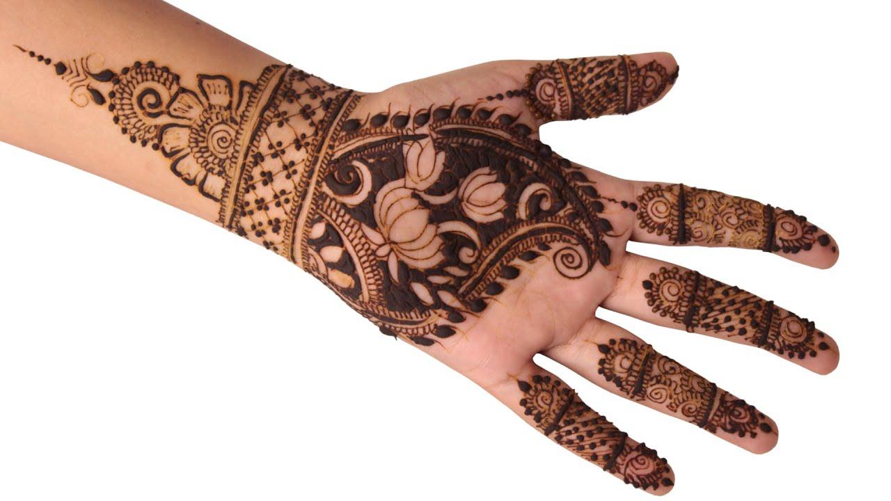 Mehndi Patterns Images : Mehndi design tutorial simple flower pattern youtube