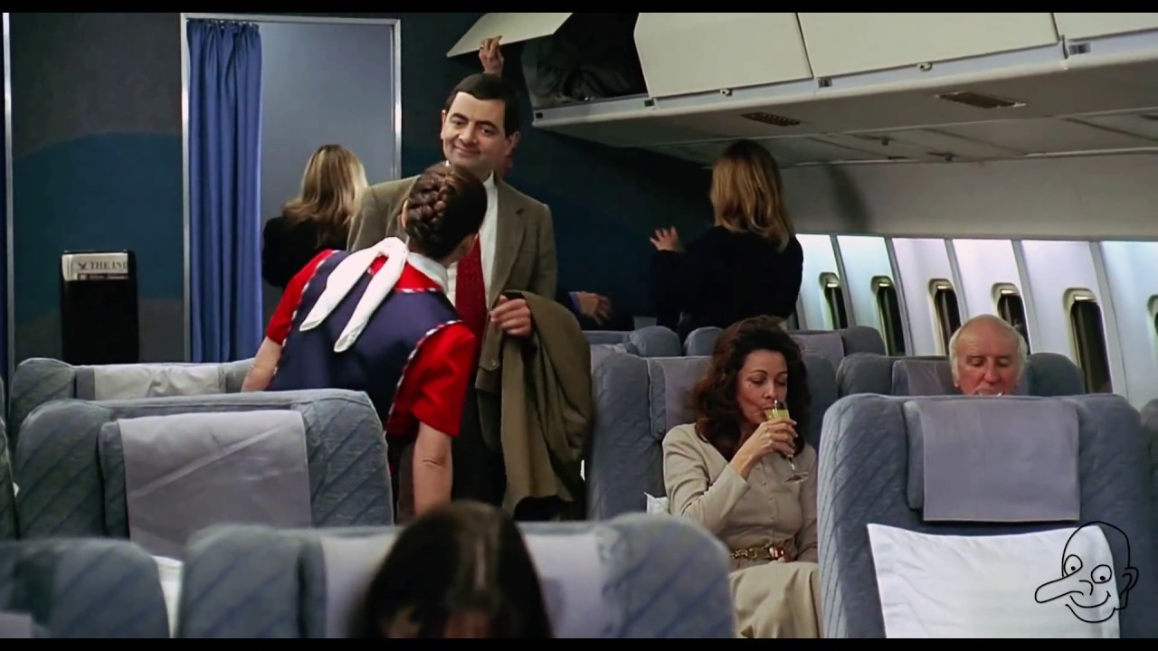 Mr.bean funny video ( fast time airplane )must watch this video.