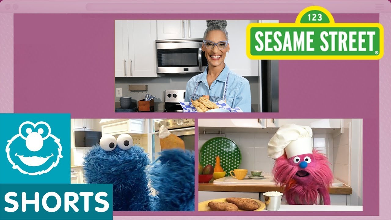 Sesame Street: Chicken Tenders with Ranch Dip | Cookie Monster Snack Chat with Carla Hall