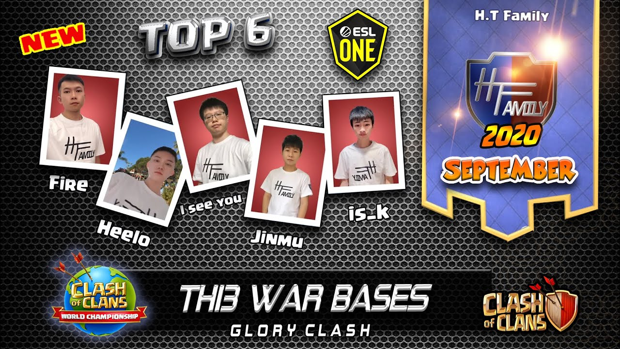 *NEW* TOP6 H.T Family Th13 War Bases /ESL Qualifier September/Anti 2-3 Star/糊涂家族/Clash of clans #604