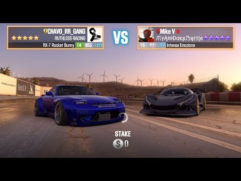 MAZDA RX7 ROCKET BUNNY VS ONLY PURPLE 5 STAR (4 LIVE RACES) T5 CSR2 RR GANG