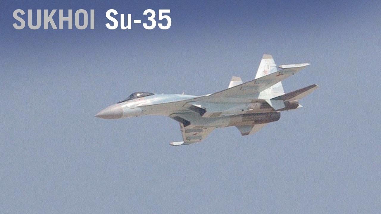 russia s sukhoi su 35 displays thrust vectoring aerobatics at dubai