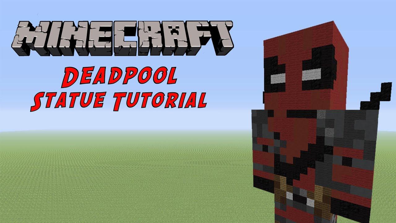 Minecraft Tutorial Deadpool Marvel Statue YouTube