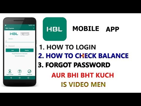 HBL Mobile App : How to Register On HBL Mobile APP And Check Your Bank Balance (2018)