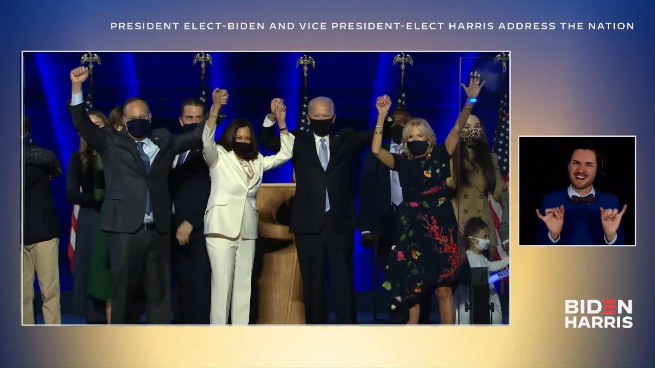 President-elect Joe Biden & Vice President-elect Kamala Harris Address the Nation