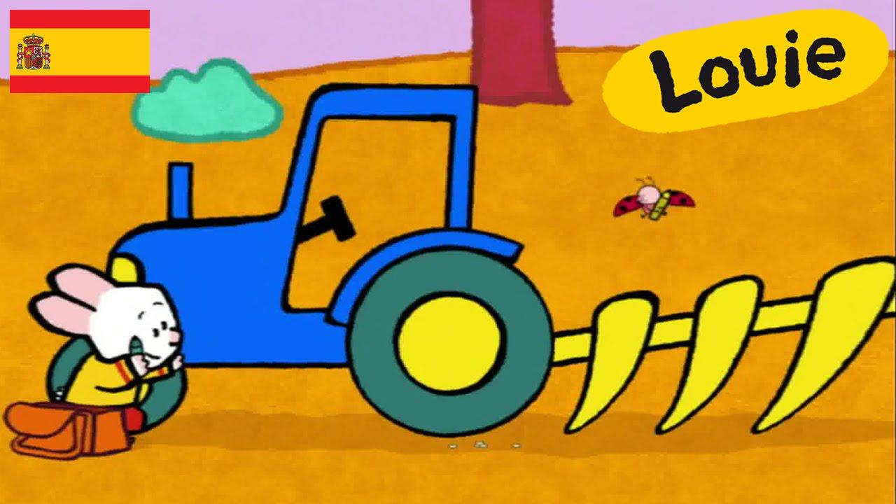 Tractor - Louie dibujame un tractor | Dibujos animados para niños ...