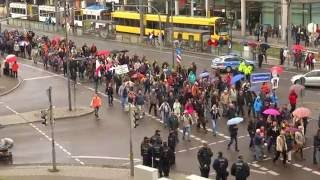 PEGIDA Parade Dresden German Unity Day 3 October 2016 16:11 CET