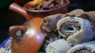 Ethiopian Quanta be Dinich Wot Recipe - Amharic Dried Beef potato Wat