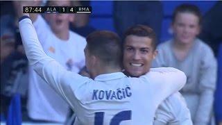 Алавес - Реал Мадрид ВСЕ ГОЛЫ 1- 4 Хет-трик КРИШТИАНУ РОНАЛДУ